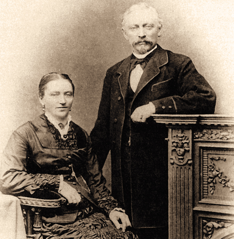 The founder couple Emilie Clementine (1845–1895) and Friedrich August Flader (1837–1895)