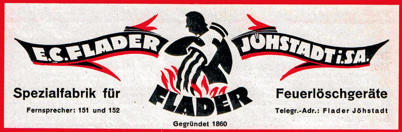 The logo of E.C. Flader as at the beginning of the 20th century