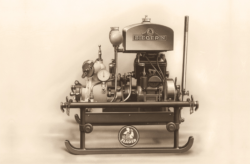 "Steam fire engine ""Siegerin"" (means: victress) with a two-stroke engine from 1928"